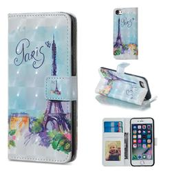Paris Tower 3D Painted Leather Phone Wallet Case for iPhone 6s 6 6G(4.7 inch)