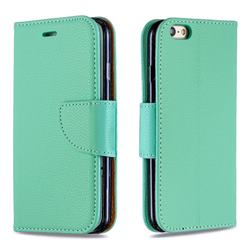 Classic Luxury Litchi Leather Phone Wallet Case for iPhone 6s 6 6G(4.7 inch) - Green
