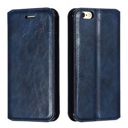Retro Slim Magnetic Crazy Horse PU Leather Wallet Case for iPhone 6s 6 6G(4.7 inch) - Blue