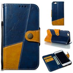 Retro Magnetic Stitching Wallet Flip Cover for iPhone 6s 6 6G(4.7 inch) - Blue