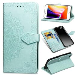 Embossing Imprint Mandala Flower Leather Wallet Case for iPhone 6s 6 6G(4.7 inch) - Green