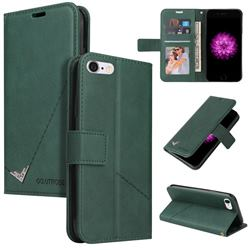 GQ.UTROBE Right Angle Silver Pendant Leather Wallet Phone Case for iPhone 6s 6 6G(4.7 inch) - Green