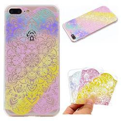 Mandala Rainbow Flower Super Clear Soft TPU Back Cover for iPhone 6s Plus / 6 Plus 6P(5.5 inch)