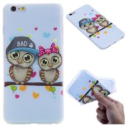 Couple Owls 3D Relief Matte Soft TPU Back Cover for iPhone 6s Plus / 6 Plus 6P(5.5 inch)