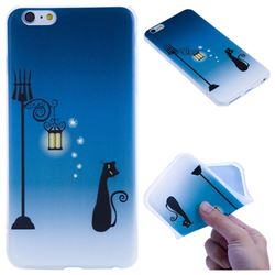 Street Light Cat 3D Relief Matte Soft TPU Back Cover for iPhone 6s Plus / 6 Plus 6P(5.5 inch)