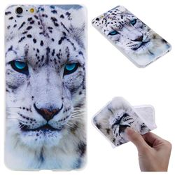 White Leopard 3D Relief Matte Soft TPU Back Cover for iPhone 6s Plus / 6 Plus 6P(5.5 inch)