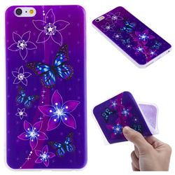Butterfly Flowers 3D Relief Matte Soft TPU Back Cover for iPhone 6s Plus / 6 Plus 6P(5.5 inch)