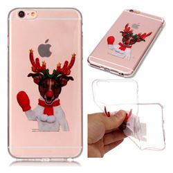 Red Gloves Elk Super Clear Soft TPU Back Cover for iPhone 6s Plus / 6 Plus 6P(5.5 inch)