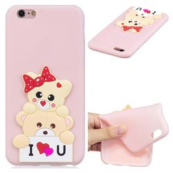 Love Bear Soft 3D Silicone Case for iPhone 6s Plus / 6 Plus 6P(5.5 inch)