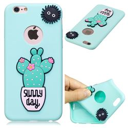Cactus Flower Soft 3D Silicone Case for iPhone 6s Plus / 6 Plus 6P(5.5 inch)