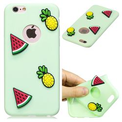 Watermelon Pineapple Soft 3D Silicone Case for iPhone 6s Plus / 6 Plus 6P(5.5 inch)