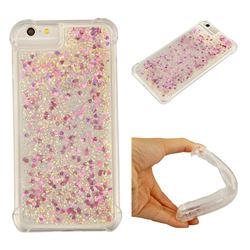 Dynamic Liquid Glitter Sand Quicksand Star TPU Case for iPhone 6s Plus / 6 Plus 6P(5.5 inch) - Rose