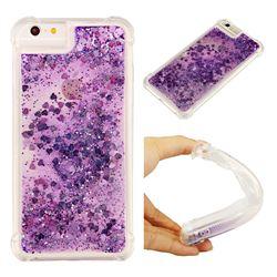 Dynamic Liquid Glitter Sand Quicksand Star TPU Case for iPhone 6s Plus / 6 Plus 6P(5.5 inch) - Purple