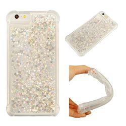 Dynamic Liquid Glitter Sand Quicksand Star TPU Case for iPhone 6s Plus / 6 Plus 6P(5.5 inch) - Silver
