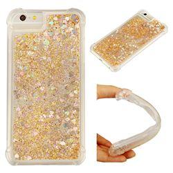 Dynamic Liquid Glitter Sand Quicksand Star TPU Case for iPhone 6s Plus / 6 Plus 6P(5.5 inch) - Diamond Gold