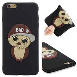 Bad Boy Owl Soft 3D Silicone Case for iPhone 6s Plus / 6 Plus 6P(5.5 inch) - Black