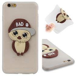 Bad Boy Owl Soft 3D Silicone Case for iPhone 6s Plus / 6 Plus 6P(5.5 inch) - Translucent White