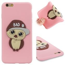 Bad Boy Owl Soft 3D Silicone Case for iPhone 6s Plus / 6 Plus 6P(5.5 inch) - Pink
