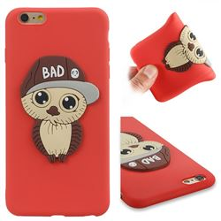 Bad Boy Owl Soft 3D Silicone Case for iPhone 6s Plus / 6 Plus 6P(5.5 inch) - Red