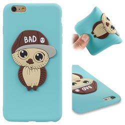 Bad Boy Owl Soft 3D Silicone Case for iPhone 6s Plus / 6 Plus 6P(5.5 inch) - Sky Blue