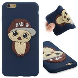 Bad Boy Owl Soft 3D Silicone Case for iPhone 6s Plus / 6 Plus 6P(5.5 inch) - Navy