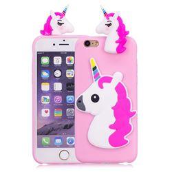 Unicorn Soft 3D Silicone Case for iPhone 6s Plus / 6 Plus 6P(5.5 inch) - Rose