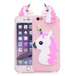 Unicorn Soft 3D Silicone Case for iPhone 6s Plus / 6 Plus 6P(5.5 inch) - Pink