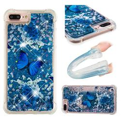 Flower Butterfly Dynamic Liquid Glitter Sand Quicksand Star TPU Case for iPhone 6s Plus / 6 Plus 6P(5.5 inch)
