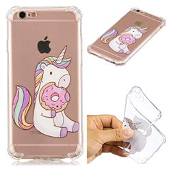 Donut Unicorn Anti-fall Clear Varnish Soft TPU Back Cover for iPhone 6s Plus / 6 Plus 6P(5.5 inch)