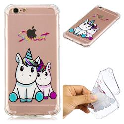 Sweet Unicorn Anti-fall Clear Varnish Soft TPU Back Cover for iPhone 6s Plus / 6 Plus 6P(5.5 inch)