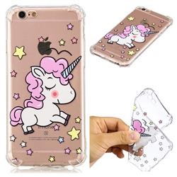 Star Unicorn Anti-fall Clear Varnish Soft TPU Back Cover for iPhone 6s Plus / 6 Plus 6P(5.5 inch)