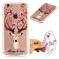 Always be Brave Anti-fall Clear Varnish Soft TPU Back Cover for iPhone 6s Plus / 6 Plus 6P(5.5 inch)