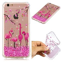 Cherry Flamingo Anti-fall Clear Varnish Soft TPU Back Cover for iPhone 6s Plus / 6 Plus 6P(5.5 inch)