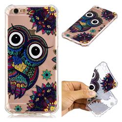 Owl Totem Anti-fall Clear Varnish Soft TPU Back Cover for iPhone 6s Plus / 6 Plus 6P(5.5 inch)