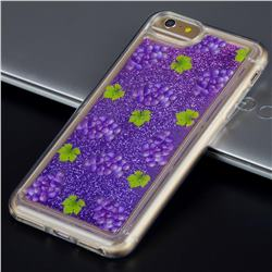 Purple Grape Glassy Glitter Quicksand Dynamic Liquid Soft Phone Case for iPhone 6s Plus / 6 Plus 6P(5.5 inch)