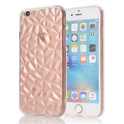 Diamond Pattern Shining Soft TPU Phone Back Cover for iPhone 6s Plus / 6 Plus 6P(5.5 inch) - Transparent