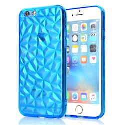 Diamond Pattern Shining Soft TPU Phone Back Cover for iPhone 6s Plus / 6 Plus 6P(5.5 inch) - Blue