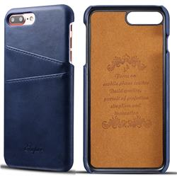Suteni Retro Classic Card Slots Calf Leather Coated Back Cover for iPhone 6s Plus / 6 Plus 6P(5.5 inch) - Blue