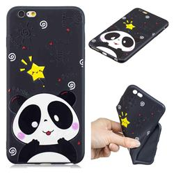 Cute Bear 3D Embossed Relief Black TPU Cell Phone Back Cover for iPhone 6s Plus / 6 Plus 6P(5.5 inch)