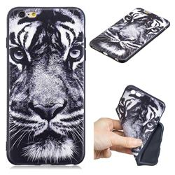 White Tiger 3D Embossed Relief Black TPU Cell Phone Back Cover for iPhone 6s Plus / 6 Plus 6P(5.5 inch)