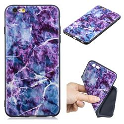 Marble 3D Embossed Relief Black TPU Cell Phone Back Cover for iPhone 6s Plus / 6 Plus 6P(5.5 inch)