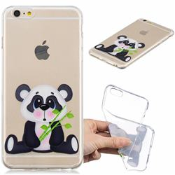 Bamboo Panda Clear Varnish Soft Phone Back Cover for iPhone 6s Plus / 6 Plus 6P(5.5 inch)
