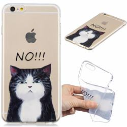 Cat Say No Clear Varnish Soft Phone Back Cover for iPhone 6s Plus / 6 Plus 6P(5.5 inch)