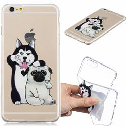 Selfie Dog Clear Varnish Soft Phone Back Cover for iPhone 6s Plus / 6 Plus 6P(5.5 inch)