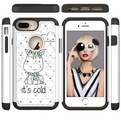 Tiny Unicorn Studded Rhinestone Bling Diamond Shock Absorbing Hybrid Defender Rugged Phone Case Cover for iPhone 6s Plus / 6 Plus 6P(5.5 inch)