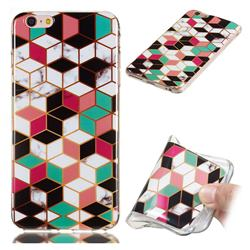 Three-dimensional Square Soft TPU Marble Pattern Phone Case for iPhone 6s Plus / 6 Plus 6P(5.5 inch)