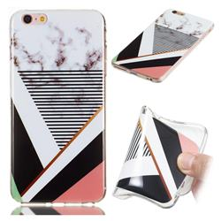 Pinstripe Soft TPU Marble Pattern Phone Case for iPhone 6s Plus / 6 Plus 6P(5.5 inch)