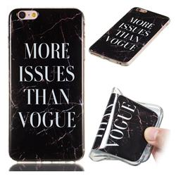 Stylish Black Soft TPU Marble Pattern Phone Case for iPhone 6s Plus / 6 Plus 6P(5.5 inch)