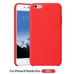 Howmak Slim Liquid Silicone Rubber Shockproof Phone Case Cover for iPhone 6s Plus / 6 Plus 6P(5.5 inch) - Red