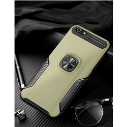 Knight Armor Anti Drop PC + Silicone Invisible Ring Holder Phone Cover for iPhone 6s Plus / 6 Plus 6P(5.5 inch) - Champagne